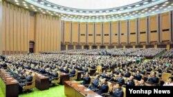 북한 최고인민회의 회의 모습 (자료화면)
