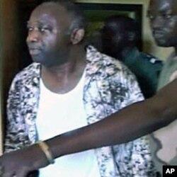 Tsohon shugaban kasar Cote d'Ivoire Mr. Laurent Gbagbo a ranar da aka kama shi a cikin watan afrilun da ya gabata