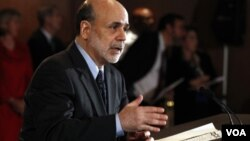El mes pasado el presidente de la FED, Ben Bernanke, dijo que la tasa de interés interbancaria se mantendría cercana a cero.