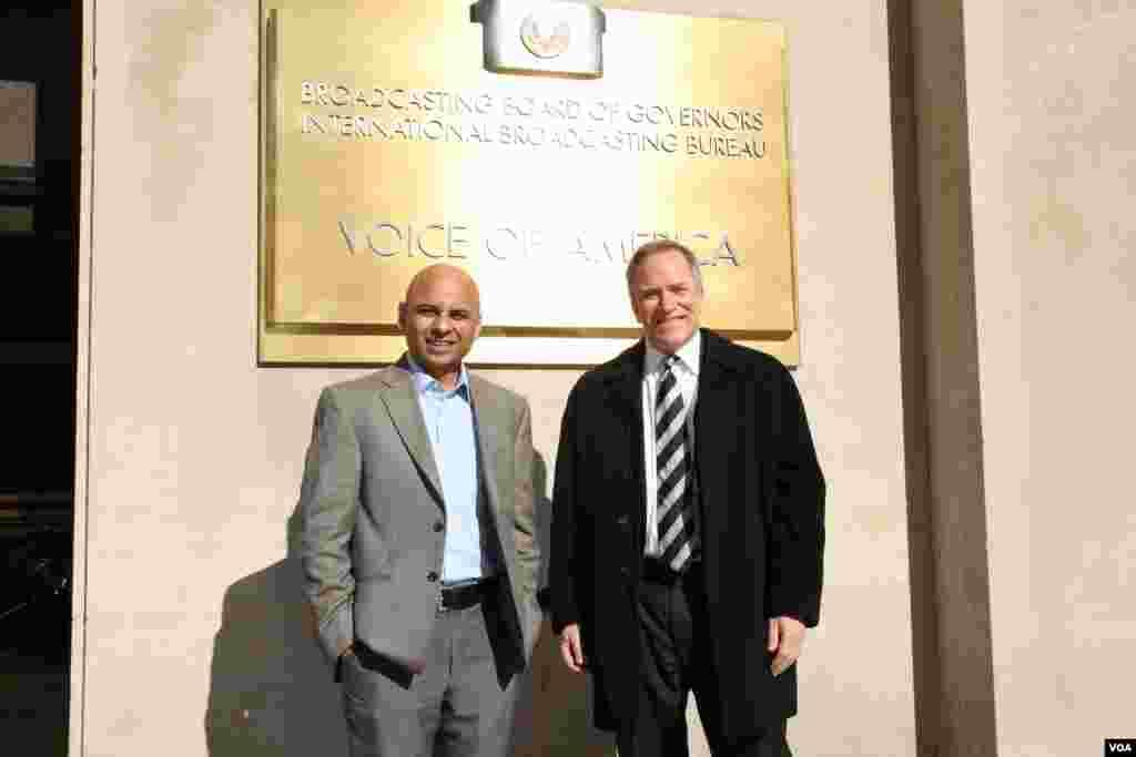 عمران صدیقی کے ساتھ پیٹرک بٹلر وی پی پروگرام آئی سی ایف جے