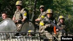 Ukrajinski vojnici blizu Kramatorska u istočnoj Ukrajini