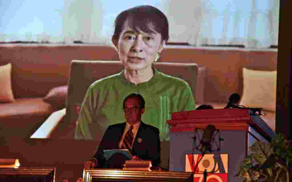Nobel Peace Prize winner Aung San Sung Kyi's message was one of the most touching we received, along with those from President Obama, Secretary Clinton, and the Dalai Lama.