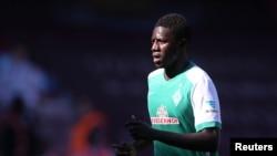 L'attaquant gambien du Werder Ousman Manneh lors d'un match contre le West Ham United, le 8 février 2015.