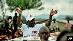 Le président burundais Pierre Nkurunziza lors de la campagne présidentielle de 2010