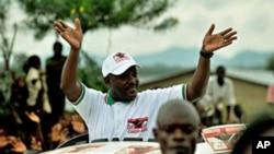 Le président burundais Pierre Nkurunziza en campagne en 2010