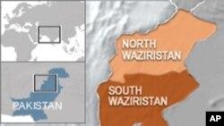 ແຜນທີ່ Waziristan ໃຕ້ ຂອງປາກີສຖານ