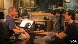 Larry London in studio with Trevor Rabin
