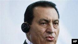 Le pésident Hosni Mubarak d'Egypte au sommet Afrique-France de Nice