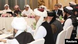 Pertemuan sebelumnya antara delegasi AS dan Taliban-Afghanistan di Doha, Qatar. (foto: dok)