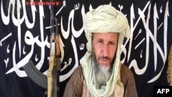 This image released on December 25, 2012 by Sahara Media, shows one of the leaders of Al-Qaida in the Islamic Maghreb (AQIM), Abdelhamid Abou Zeid in an undisclosed place.