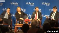 亞洲協會論壇討論中國經濟前景 (美國之音視頻截圖)
