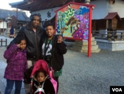 Khiana Robinson lives in South Korea with her husband, Leonard, and their daughters, Anaya (standing) and Naima (in the stroller). (Courtesy photo)
