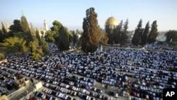 Mideast Israel Palestinians Eid