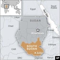 Carte du Sud-Soudan