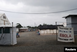 "FILE - The Ebola virus treatment center in Paynesville, Liberia, July 16, 2015. The winner of ""Integrity Idol"" has pledged to use his prize money to train health care workers in Liberia, which is still reeling from the Ebola crisis."