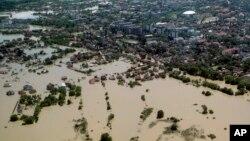 Poplavljeno područje u Obrenovcu