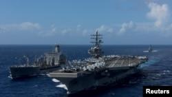 Tàu sân bay Hải quân Hoa Kỳ USS Ronald Reagan.