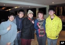 返台渡春节的大陆台商子弟学校学生