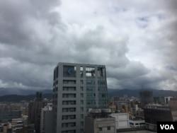 台北上空乌云密布