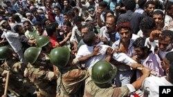 یمن: کئی شہروں میں مظاہرے ، سیکیورٹی فورسز اور مظاہرین میں جھڑپیں