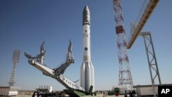 Proton-M/质子-M型运载火箭在位于哈萨克斯坦的发射站