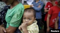 'Yan gudun hijira daga kasar Myanmar, REUTERS/Soe Zeya Tun - RTX1MERA