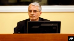 FILE - Bosnian army commander Enver Hadzihasanovic during a 2008 appeal at the International War crimes Tribunal in the Hague, Netherlands