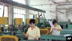 安徽一間工廠的產品生產線