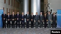 Bộ trưởng Thương mại các nước trong cuộc họp về Hiệp định Đối tác Xuyên Thái Bình Dương TPP tại Atlanta, Georgia, ngày 1 tháng 10, 2015.