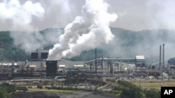 This file photo from July 14, 2010 shows smoke pouring from the United States Steel Corp.'s Clairton Coke Works in Clairton, Pa. (AP Photo/Keith Srakocic, File)
