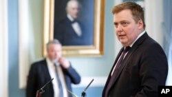 冰島總理貢勞格松於4月4日資料照。