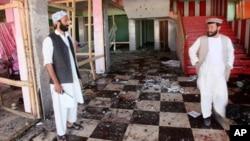 폭탄테러가 발생한 아프가니스탄 북부 사만간 주의 한 결혼식 연회장 현장