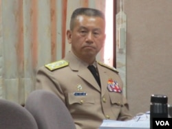 台灣國防部參謀總長兼執行官浦澤春(美國之音 張永泰拍攝)