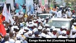 Campagne électorale ebandi na Congo-Brazzaville, 5 mars 2021. (Twitter/Congo News Net)