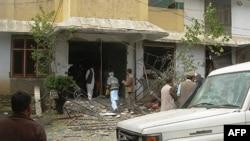 Văn phòng của tổ chức World Vision ở quận Mansehra sau vụ tấn công
