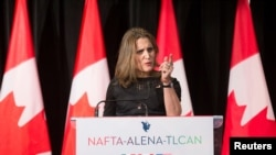 FILE - Chrystia Freeland, Canada's Minister of Foreign Affairs.