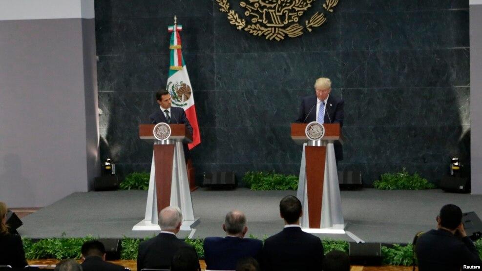 Donald Trump y Enrique Peña Nieto se reunieron por casi una hora en Ciudad de México.
