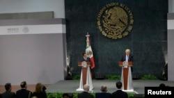 Donald Tramp və Meksika prezidenti Enrike Pena Nieto