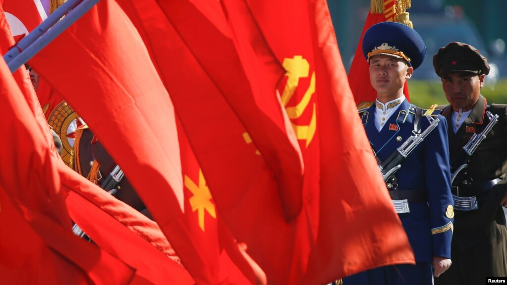 Quân đội Bắc Hàn trong một buổi lễ ở Bình Nhưỡng