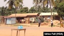Dans une rue à Bangui, Centrafrique, le 22 décembre 2013.