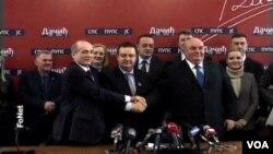 Konferencija za novinare koalicije SPS - PUPS - Jedinstvena Srbija, Beograd 3. februar 2014.