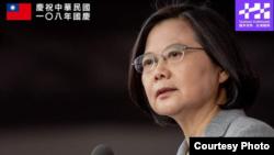 台湾总统蔡英文2019年10月10日发表国庆演说(蔡英文脸书截图)