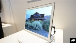 A new tablet on display at The 2013 International CES, Las Vegas, Nevada, Jan. 8, 2013.