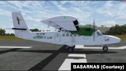Pesawat Rimbun Air Cargo seri Twin Otter 300 PK-OTW (Foto: Courtesy/Basarnas)
