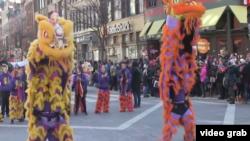 舞獅表演幫助美國華人傳承文化傳統 (視頻截圖)