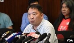 香港民主党主席胡志伟。(美国之音汤惠芸)