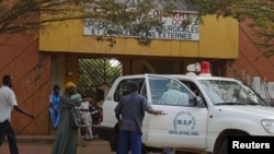 治療感染伊波拉病毒患者的畿內亞醫院