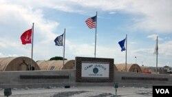 Penjara militer di Teluk Guantanamo, Kuba. Fasilitas ini kini menampung sekitar 170 tahanan.