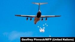 2011年12月世界粮食计划署在南苏丹空投亿粮食(资料照片)