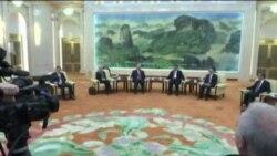 همزمان با بالا گرفتن تنش در شبه جزیره کره، وزیر خارجه آمریکا به چین رفت